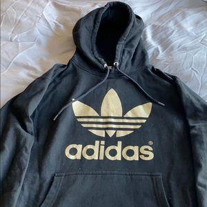 Adidas black/gold foil Yeezy Hoodie S